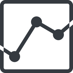 analytics line, down, normal, square, graph, analytics, chart free icon 256x256 256x256px