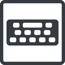 keyboard-solid line, down, normal, square, desktop, keyboard, keypad, typing, keyboard-solid free icon 128x128 128x128px