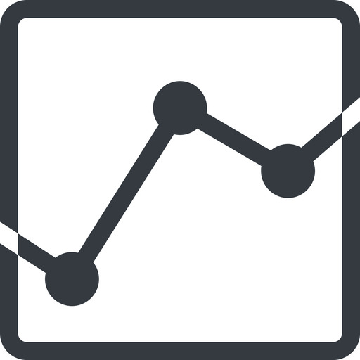 analytics line, down, normal, square, graph, analytics, chart free icon 512x512 512x512px