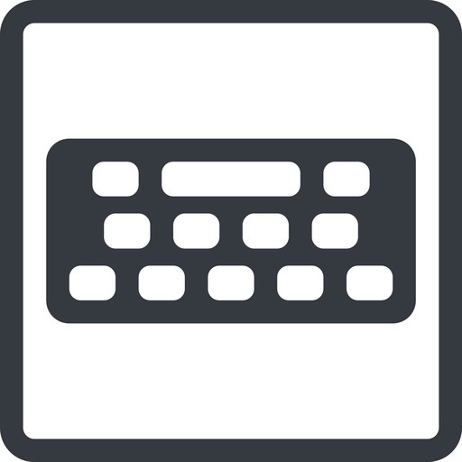 keyboard-solid line, down, normal, square, desktop, keyboard, keypad, typing, keyboard-solid free icon 512x512 512x512px