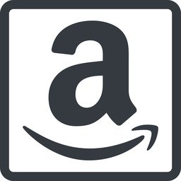 amazon line, normal, square, logo, brand, shop, buy, ecommerce, market, place, amazon free icon 256x256 256x256px