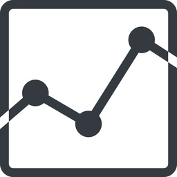 analytics line, up, normal, square, graph, analytics, chart free icon 256x256 256x256px