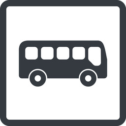 bus-side line, normal, wide, square, car, vehicle, transport, bus, side, bus-side free icon 256x256 256x256px