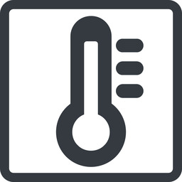 thermometer-high-solid line, normal, solid, square, temperature, thermometer, heat, high, hot, thermometer-high, thermometer-high-solid free icon 256x256 256x256px