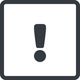 warning-solid line, normal, square, mark, warning, exclamation, warning-solid, alert free icon 256x256 256x256px