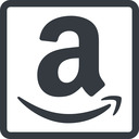amazon line, normal, square, logo, brand, shop, buy, ecommerce, market, place, amazon free icon 128x128 128x128px