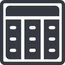 spreadsheet-solid line, up, normal, square, cell, table, data, grid, row, columns, spreadsheet, spreadsheet-solid free icon 128x128 128x128px