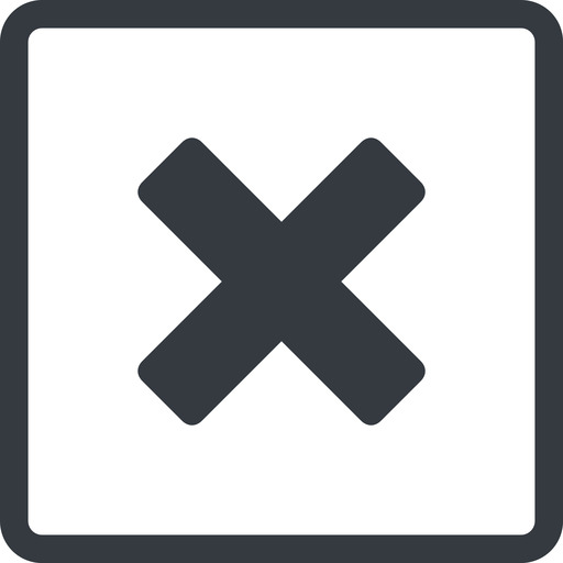 times-solid line, normal, square, times, cross, error, not, remove, no, delete, times-solid, danger, close, cancel, x free icon 512x512 512x512px