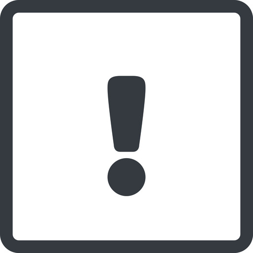 warning-solid line, normal, square, mark, warning, exclamation, warning-solid, alert free icon 512x512 512x512px