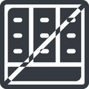 spreadsheet-solid line, down, normal, square, horizontal, mirror, prohibited, cell, table, data, grid, row, columns, spreadsheet, spreadsheet-solid free icon 128x128 128x128px