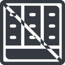 spreadsheet-solid line, down, normal, square, prohibited, cell, table, data, grid, row, columns, spreadsheet, spreadsheet-solid free icon 128x128 128x128px