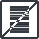 barcode line, left, normal, square, prohibited, barcode free icon 128x128 128x128px