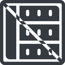 spreadsheet-solid line, right, normal, square, horizontal, mirror, prohibited, cell, table, data, grid, row, columns, spreadsheet, spreadsheet-solid free icon 128x128 128x128px