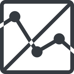 analytics line, up, normal, square, horizontal, mirror, graph, analytics, chart, prohibited free icon 256x256 256x256px