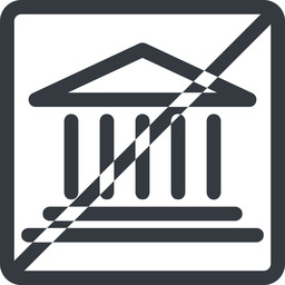 bank line, normal, square, horizontal, mirror, prohibited, law, bank, banking, university, investment, finance, court free icon 256x256 256x256px
