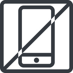 smartphone line, up, normal, square, horizontal, mirror, prohibited, iphone, phone, android, gsm, smartphone, cell free icon 256x256 256x256px