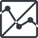 analytics line, up, normal, square, horizontal, mirror, graph, analytics, chart, prohibited free icon 128x128 128x128px