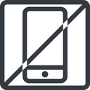 smartphone line, up, normal, square, horizontal, mirror, prohibited, iphone, phone, android, gsm, smartphone, cell free icon 128x128 128x128px