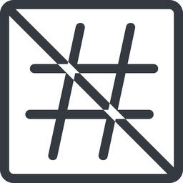 hashtag line, normal, square, social, prohibited, hashtag free icon 256x256 256x256px