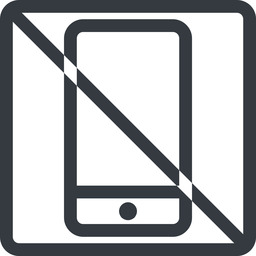 smartphone line, up, normal, square, prohibited, iphone, phone, android, gsm, smartphone, cell free icon 256x256 256x256px