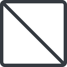 square line, normal, square, prohibited free icon 256x256 256x256px