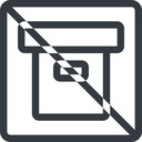 archive line, normal, square, prohibited, archive, back-up free icon 128x128 128x128px