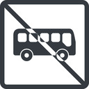 bus-side line, normal, wide, square, car, vehicle, transport, prohibited, bus, side, bus-side free icon 128x128 128x128px