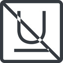 underline line, normal, square, prohibited, text, type, editor, font, typography, font-style, underline, underlined free icon 128x128 128x128px