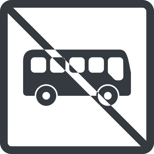 bus-side line, normal, wide, square, car, vehicle, transport, prohibited, bus, side, bus-side free icon 512x512 512x512px