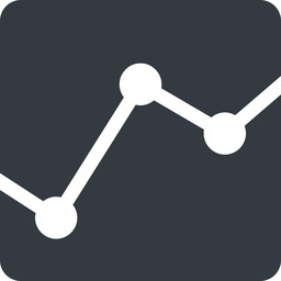 analytics down, normal, solid, square, graph, analytics, chart free icon 256x256 256x256px