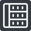 spreadsheet left, normal, solid, square, cell, table, data, grid, row, columns, spreadsheet free icon 128x128 128x128px