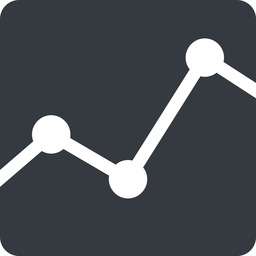 analytics up, normal, solid, square, graph, analytics, chart free icon 256x256 256x256px