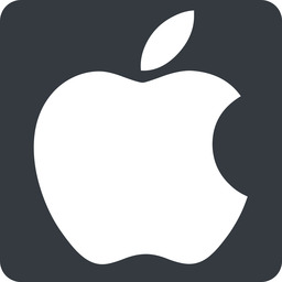 apple normal, solid, square, logo, brand, apple, macintosh, itunes, ipad, iphone, ipod free icon 256x256 256x256px
