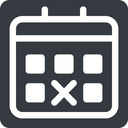 deadline normal, solid, square, date, schedule, event, timetable, calendar, deadline, calendar. free icon 128x128 128x128px