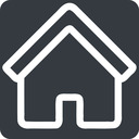 home normal, solid, square, home, house free icon 128x128 128x128px