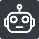 robot normal, solid, square, robot, robotics, head free icon 128x128 128x128px