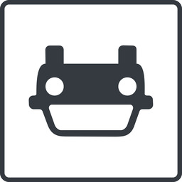 car-front thin, line, down, square, car, front, vehicle, transport, car-front., car-front free icon 256x256 256x256px