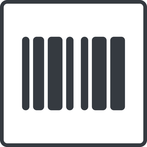 barcode-solid thin, line, down, solid, square, barcode, barcode-solid free icon 512x512 512x512px