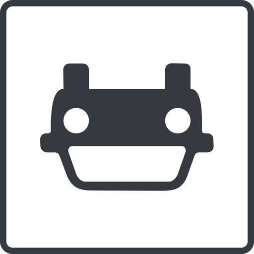 car-front thin, line, down, square, car, front, vehicle, transport, car-front., car-front free icon 512x512 512x512px