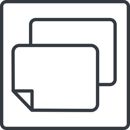 copy-thin line, right, square, horizontal, mirror, copy, copy-thin, files free icon 256x256 256x256px