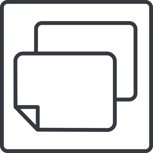 copy-thin line, right, square, horizontal, mirror, copy, copy-thin, files free icon 512x512 512x512px