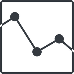 analytics-thin line, up, square, horizontal, mirror, graph, analytics, chart, analytics-thin free icon 256x256 256x256px