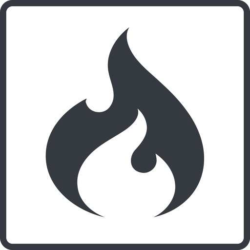 codeigniter thin, line, square, logo, brand, icon, horizontal, mirror, codeigniter, igniter, code, php, framework, flame, fire free icon 512x512 512x512px