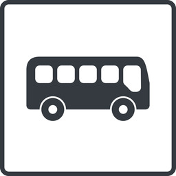 bus-side thin, line, wide, square, car, vehicle, transport, bus, side, bus-side free icon 256x256 256x256px