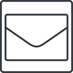 envelope-thin thin, line, square, envelope, mail, message, email, envelope-thin, contact free icon 256x256 256x256px