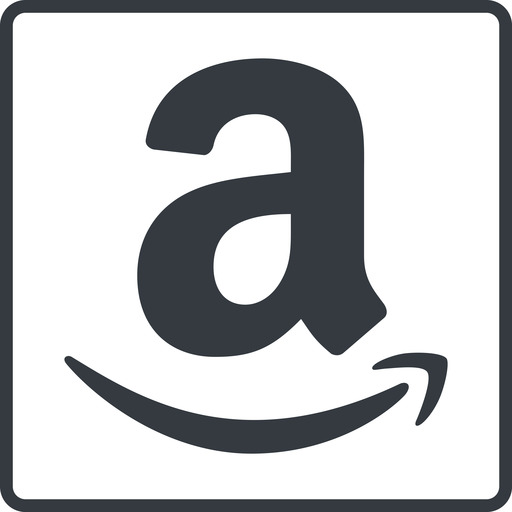 amazon thin, line, square, logo, brand, shop, buy, ecommerce, market, place, amazon free icon 512x512 512x512px