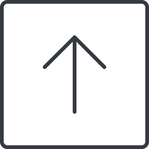 arrow-simple-thin thin, line, up, square, arrow, direction, arrow-simple-thin free icon 512x512 512x512px