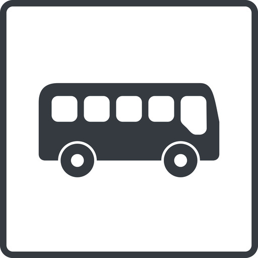 bus-side thin, line, wide, square, car, vehicle, transport, bus, side, bus-side free icon 512x512 512x512px