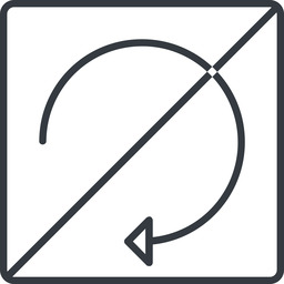 undo-thin thin, line, down, square, horizontal, mirror, arrow, prohibited, reload, refresh, undo, redo, undo-thin, restore free icon 256x256 256x256px