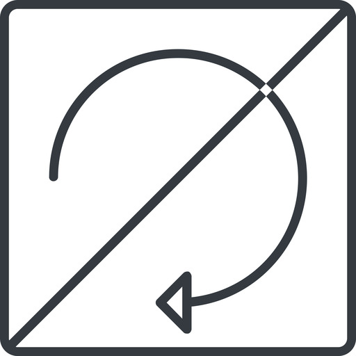 undo-thin thin, line, down, square, horizontal, mirror, arrow, prohibited, reload, refresh, undo, redo, undo-thin, restore free icon 512x512 512x512px